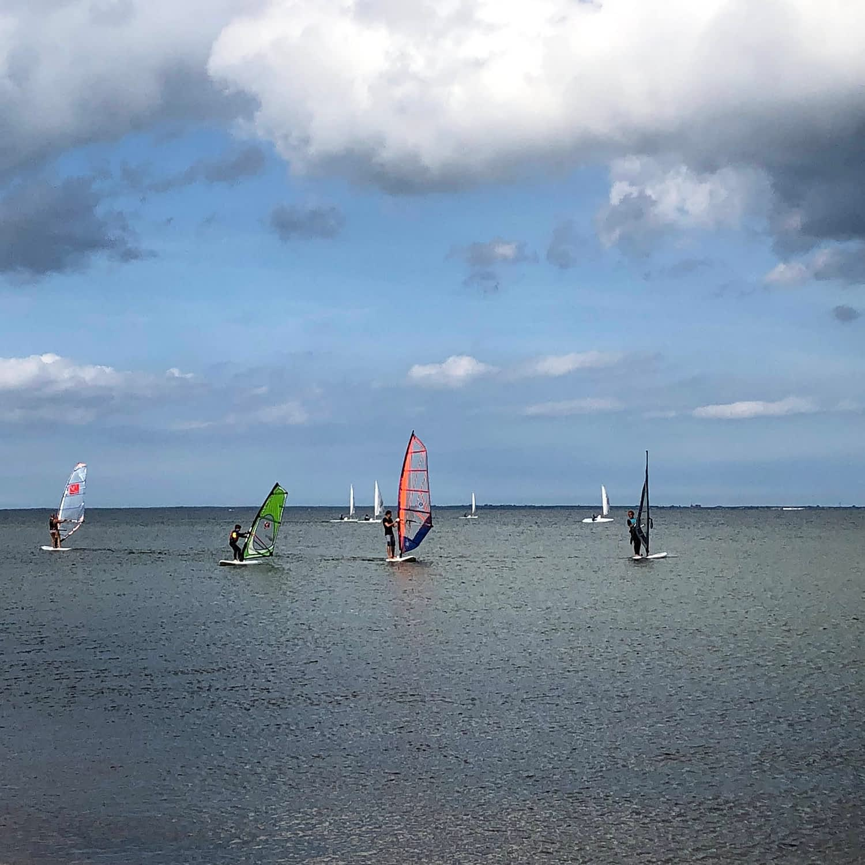 Willa Davia windsurfing